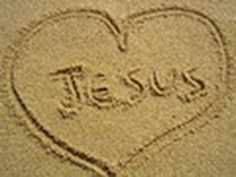 The Name of Jesus Written in the Sand