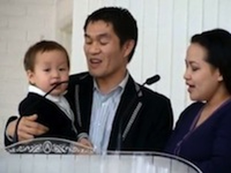 Two Year Old Sings God Will Take Care of You