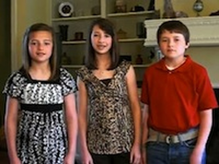 Three Kids Do a Great Job Singing Jesus Messiah