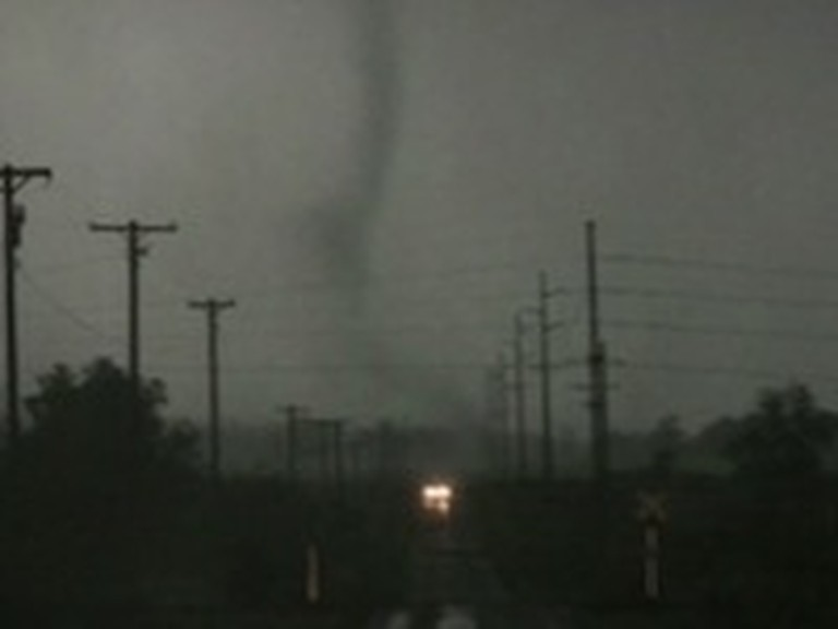 Woman Cries Out to Jesus During Terrifying Tornado