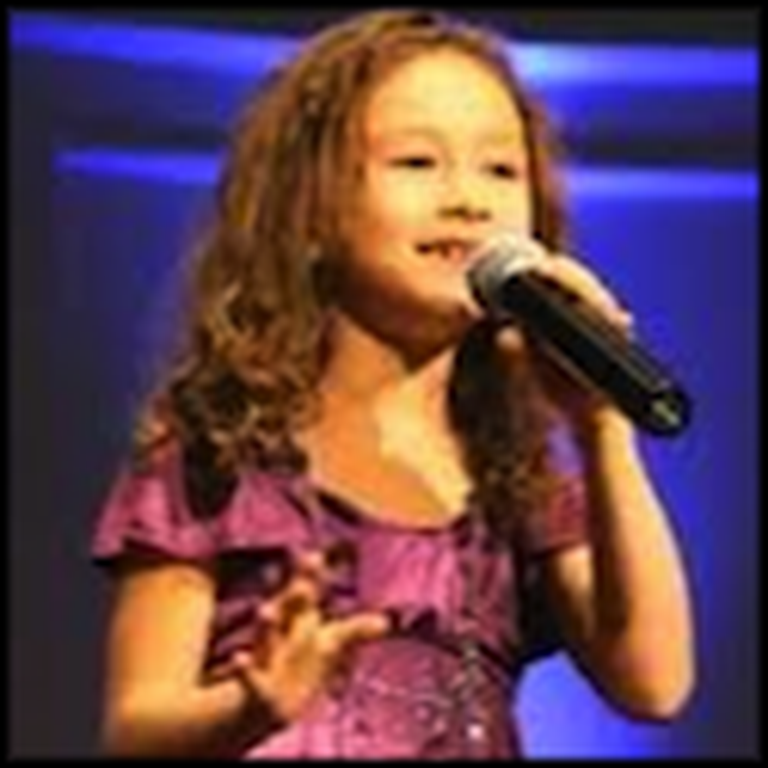 Rhema Marvanne Sings The Lords Prayer at Age 7
