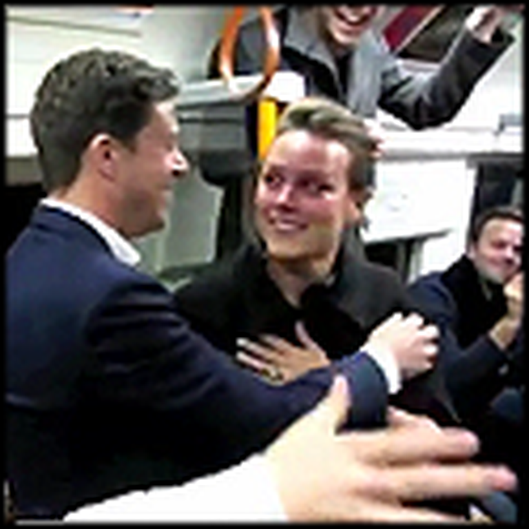 Amazing Surprise Proposal on a London Train