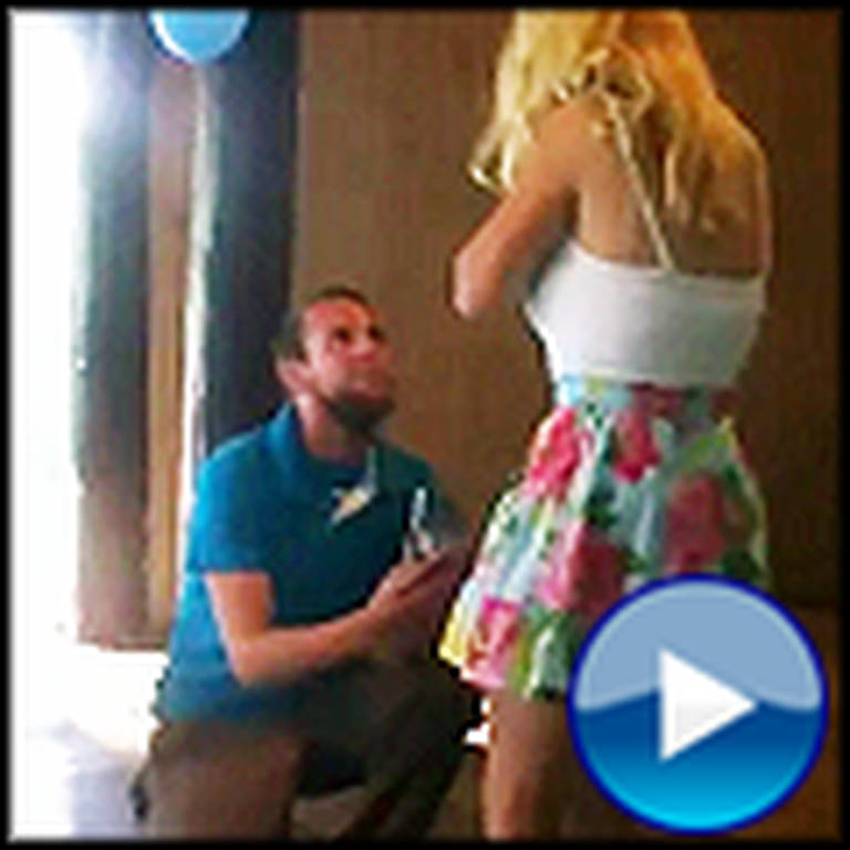 Girl Faints When Her Boyfriend Asks her to Marry Him