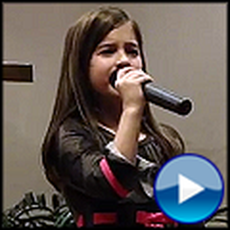 7 Year Old Girl Sings How Great Thou Art - So Beautiful