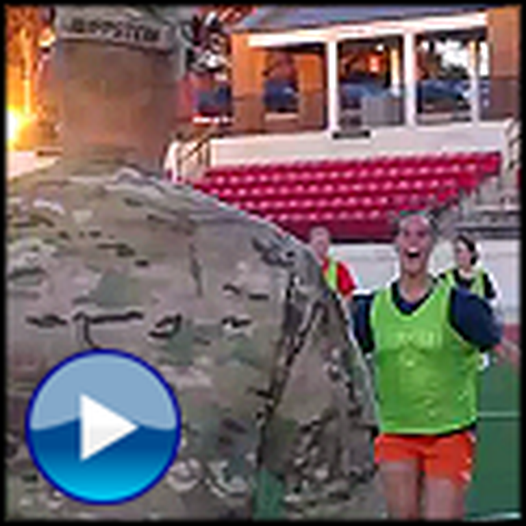Soldier Father Surprises his Daughter at Soccer Practice
