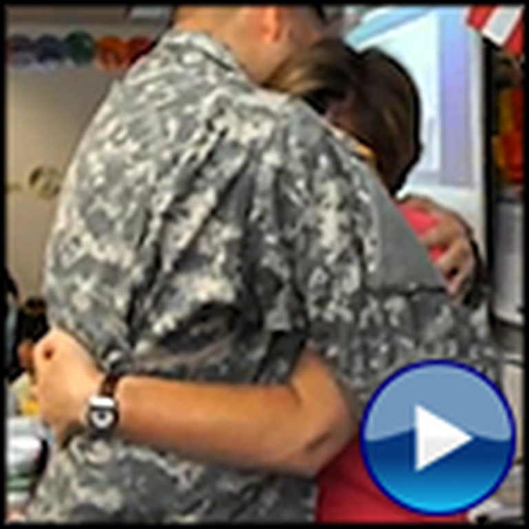 Triple the Tears - Soldier Surprises his Grandpa, Mom, and Son