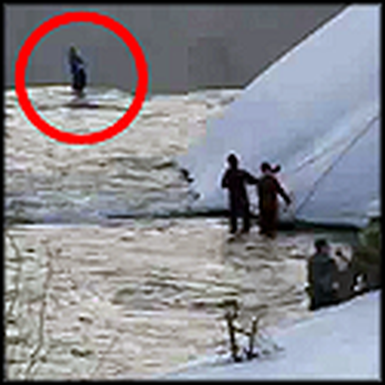 Heroic Rescue Workers Save a Man at Niagara Falls
