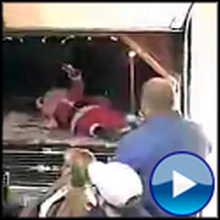 Santa Claus Entrance Goes Very Very Wrong