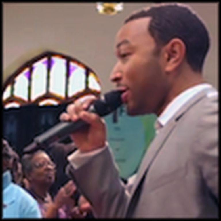 John Legend Surprises his Hometown Church with a Great Performance