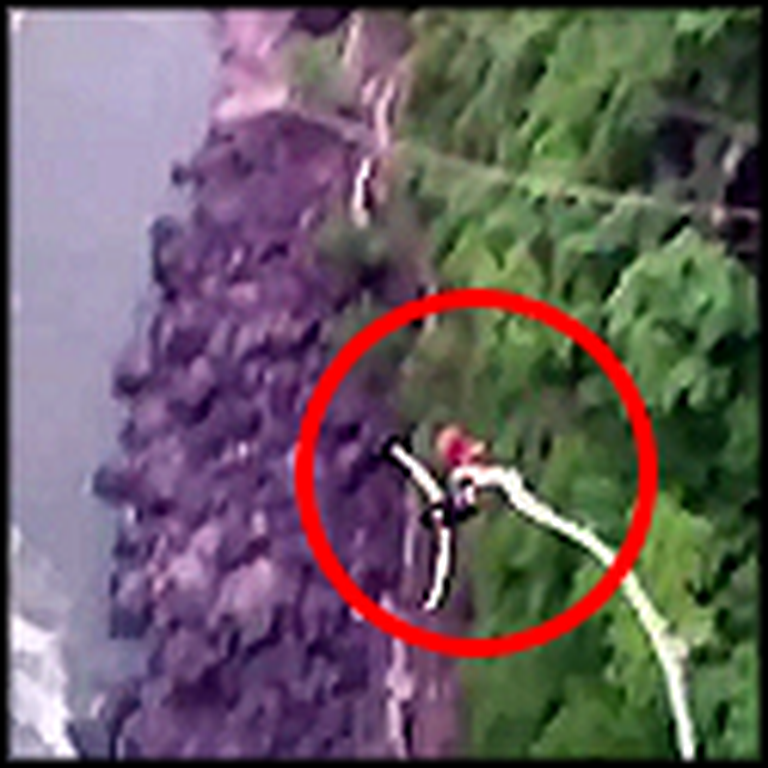 Girl Miraculously Survives her Bungee Cord Breaking