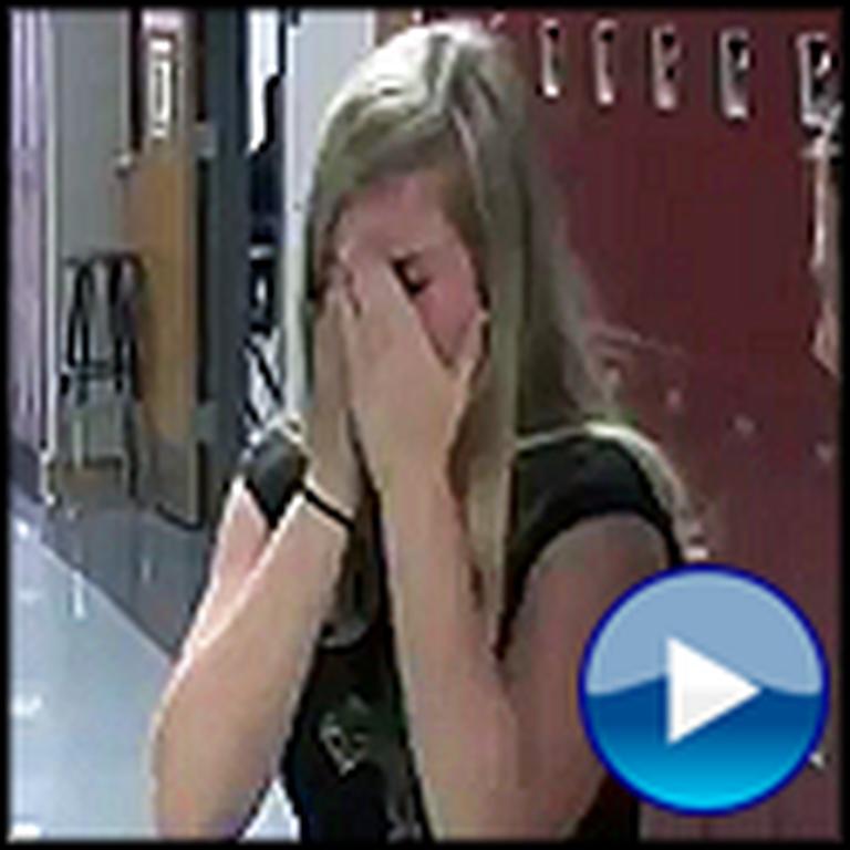 Girl Breaks Down in School When her Soldier Brother Surprises Her