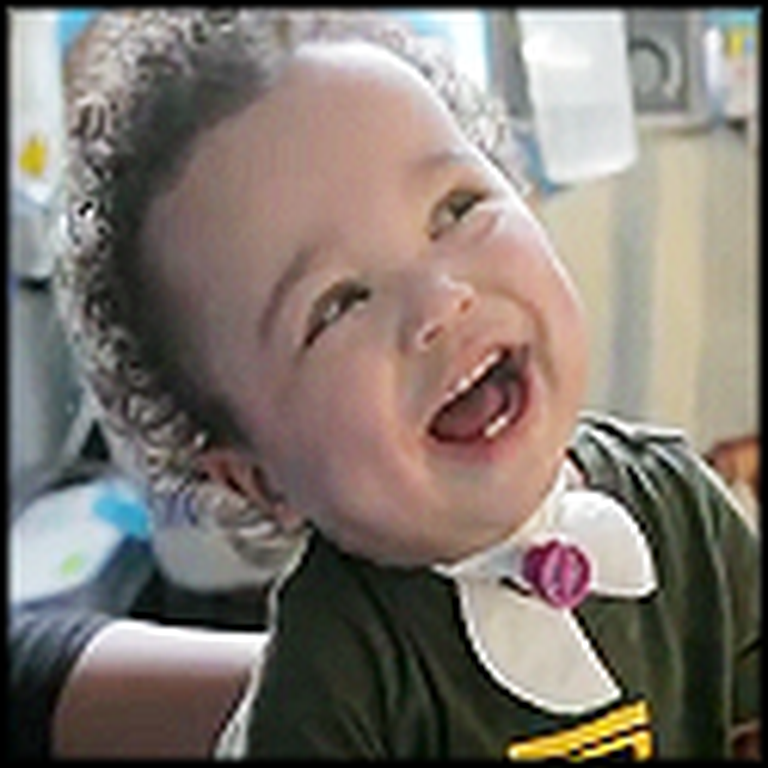 A Young Child Hears His Laugh for the First Time