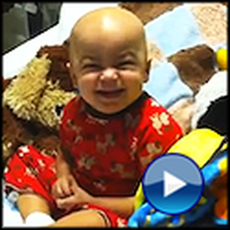 Little Boy with Cancer Laughs for the First Time After Chemo