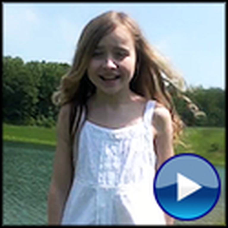 Young Girl Sings an Awesome Rendition of You Raise Me Up