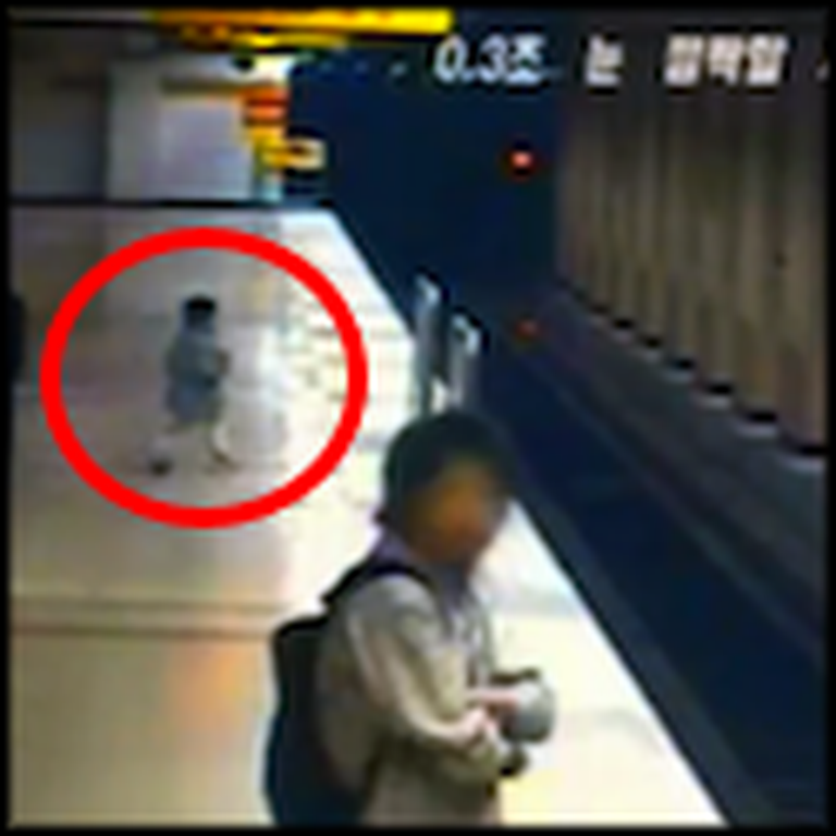 Quick Thinking Hero Saves a Little Boy from a Train