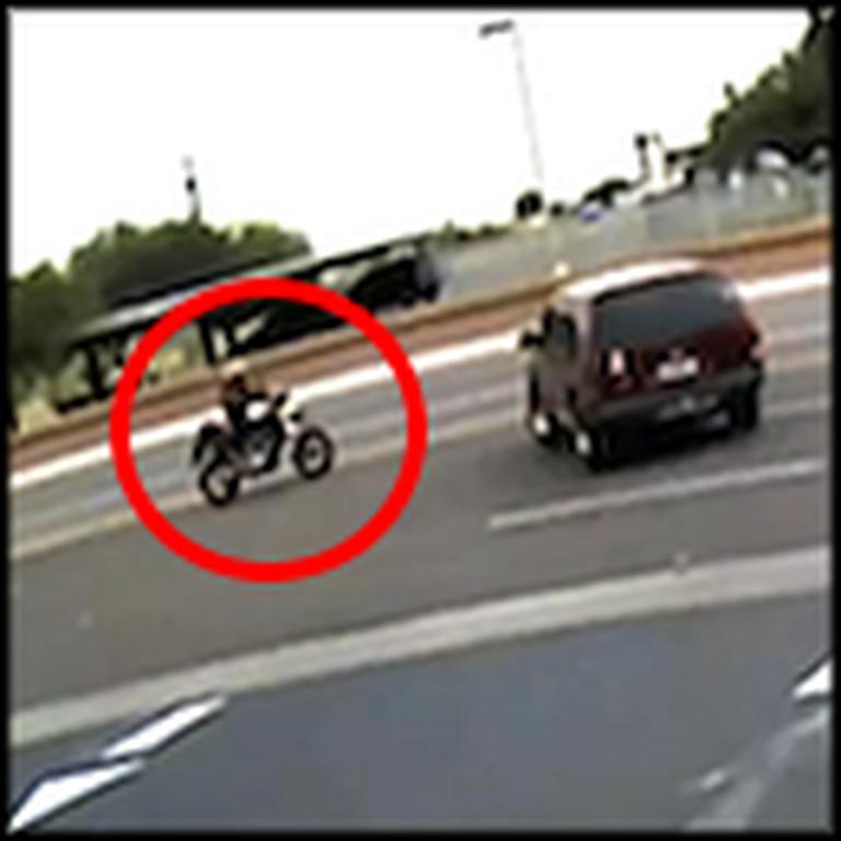 Quick Thinking Good Samaritan Saves a Man Hit by an SUV