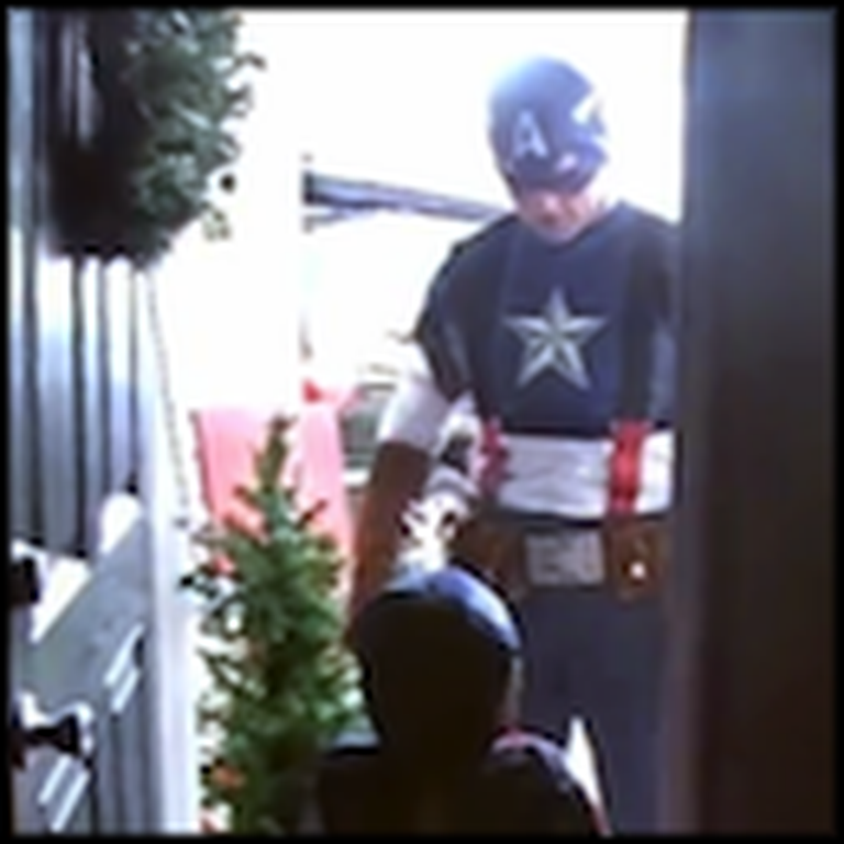 Military Dad Comes Home Dressed as Captain America to Surprise his Son