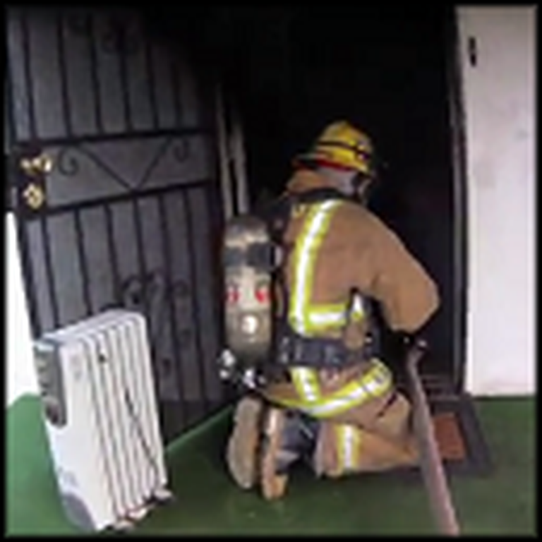Helmet Camera Captures the Most Incredible Firefighter Rescue Ever