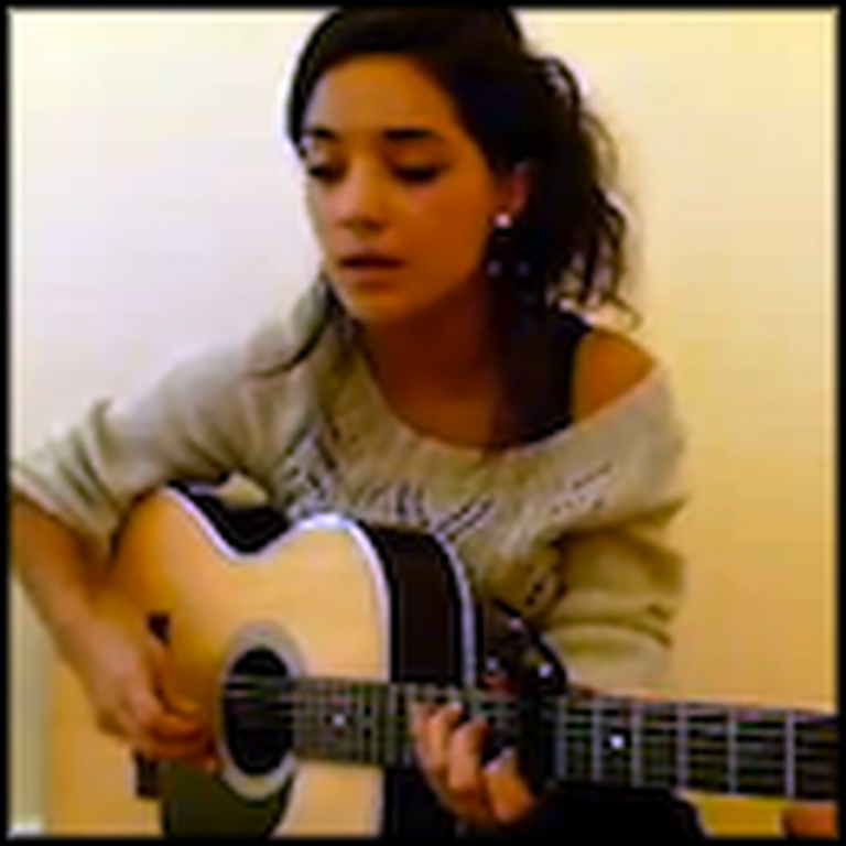 Girl Plays and Sings an Acoustic Version of Hallelujah