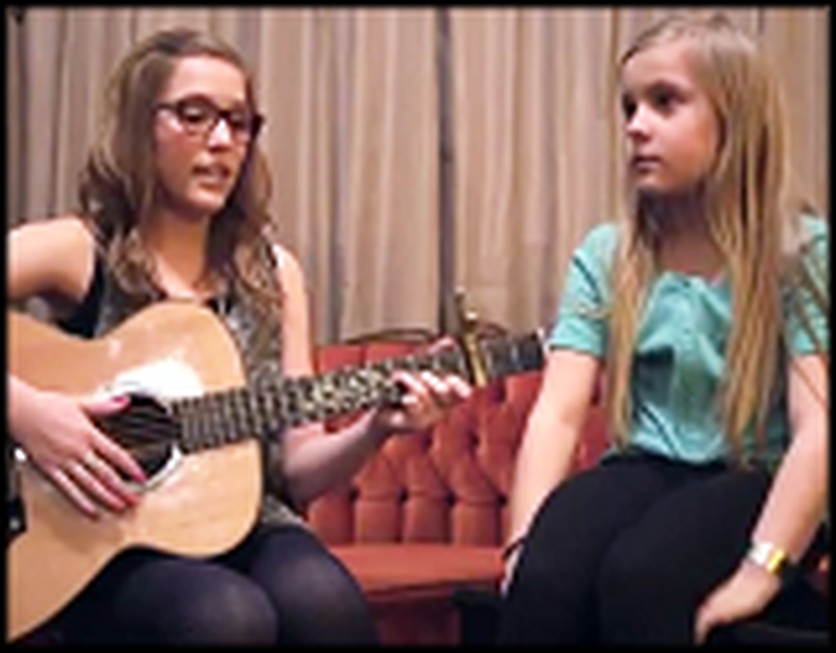 I Won't Give Up - a Beautiful Duet by Two Young Sisters