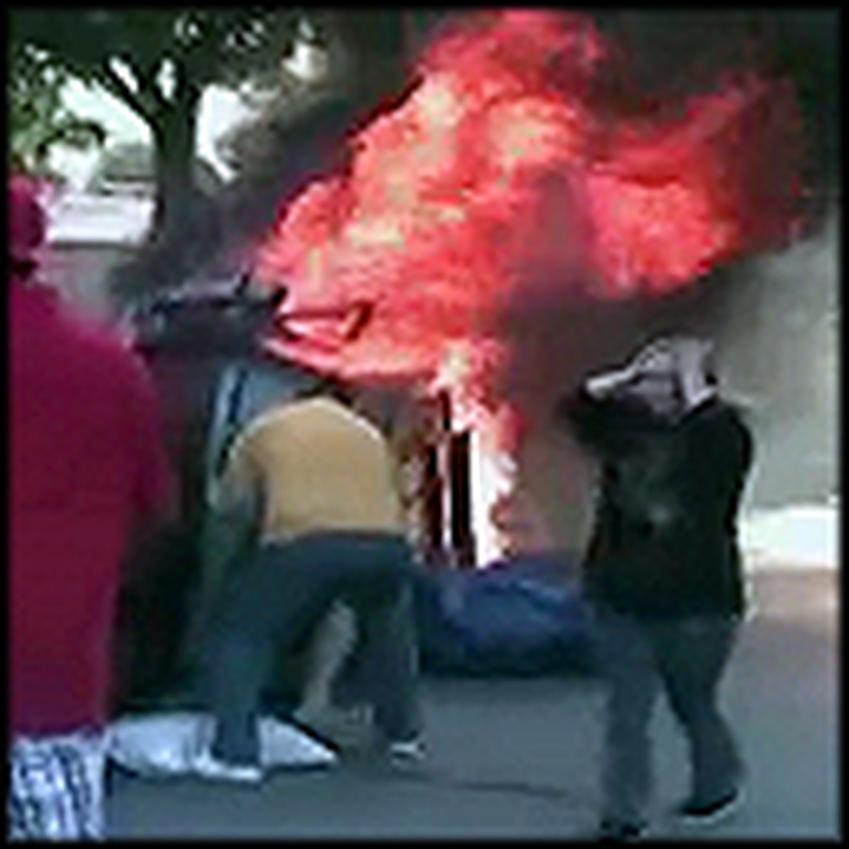 Unbelievable Breathtaking Rescue of a Baby in a Fiery SUV