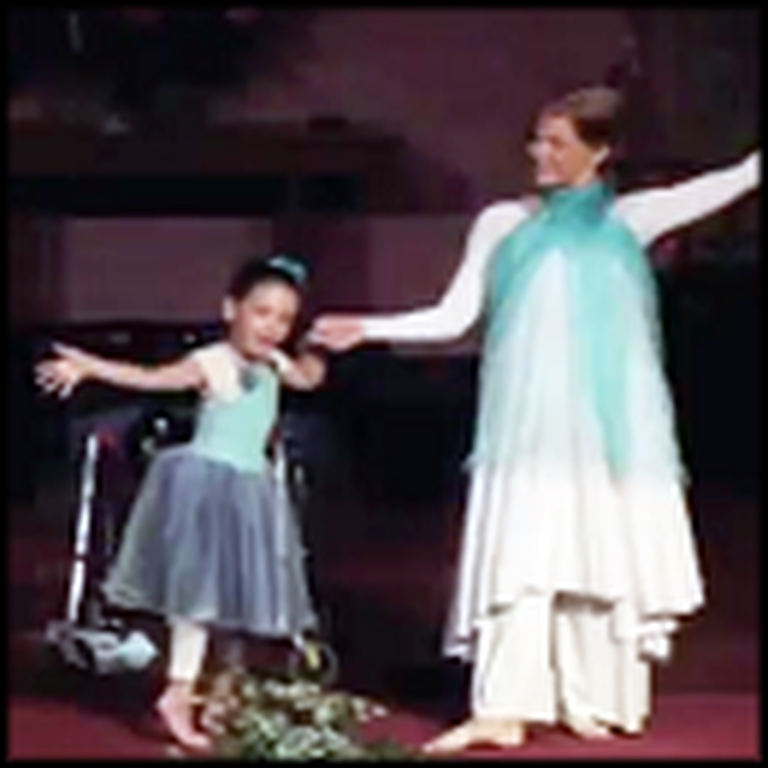 Little Girl With Cerebral Palsy has her Wish Come True at Church