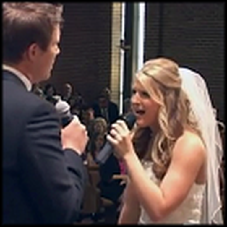 Couple Gets Married Then Beautifully Sings When God Made You