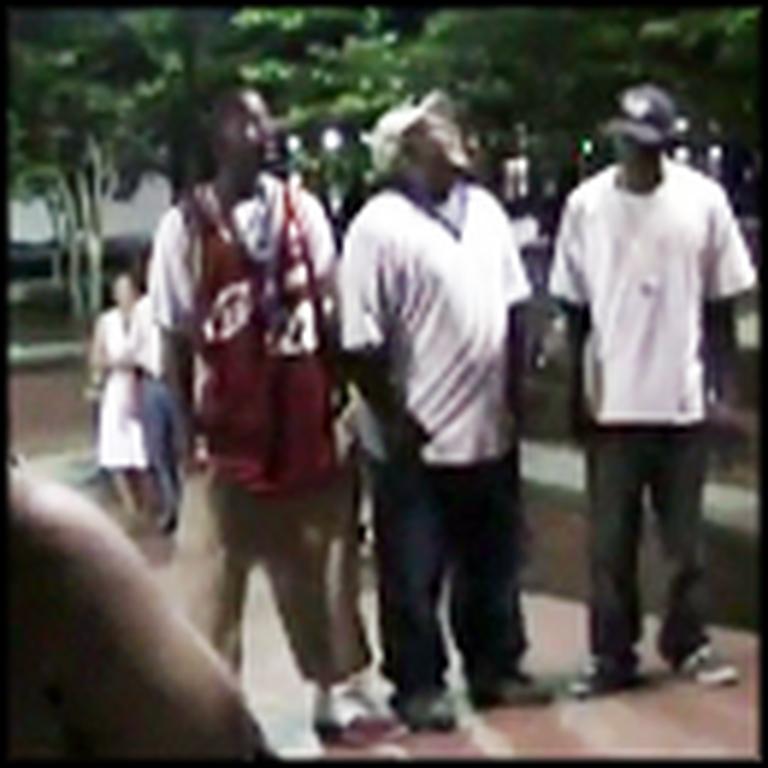Three Men on the Street in Savannah Sing Amazing Grace