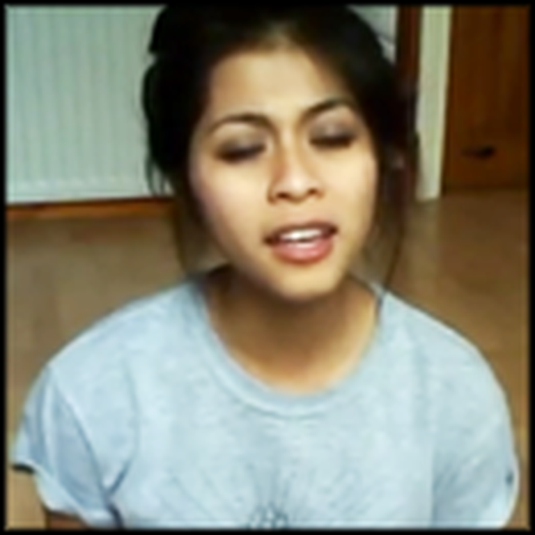 Girl Sings a Beautiful Version of Amazing Grace on her Bedroom Floor