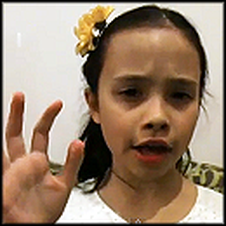 8 Year Old Little Girl Beautifully Sings Angel - Awesome Voice