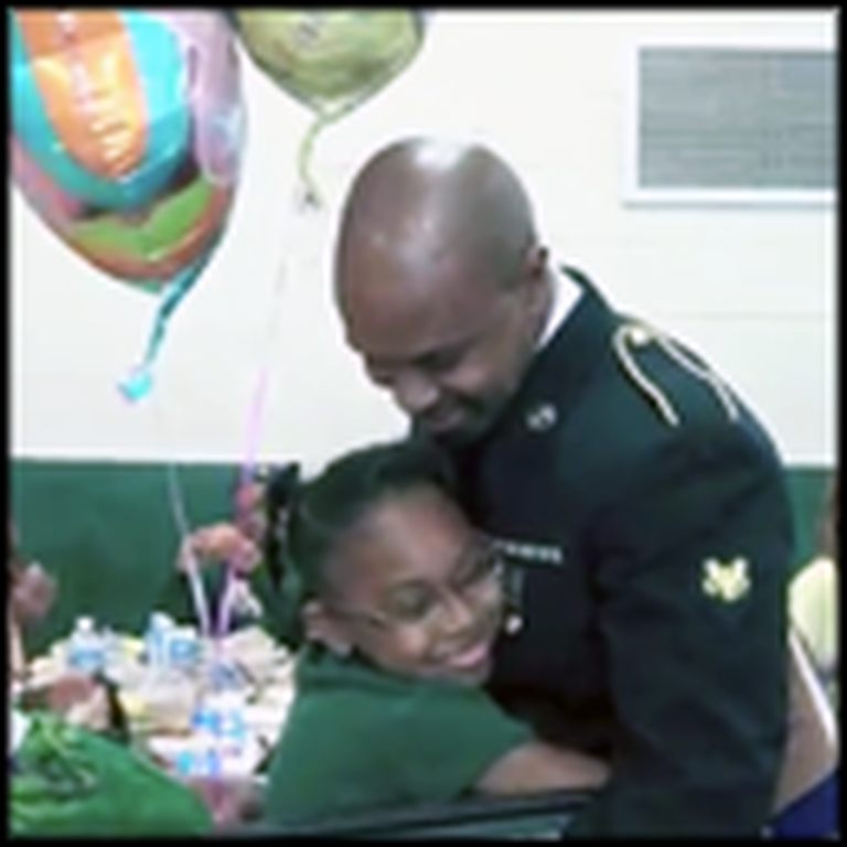 Singing Sailor Surprises his Daughter on her Birthday