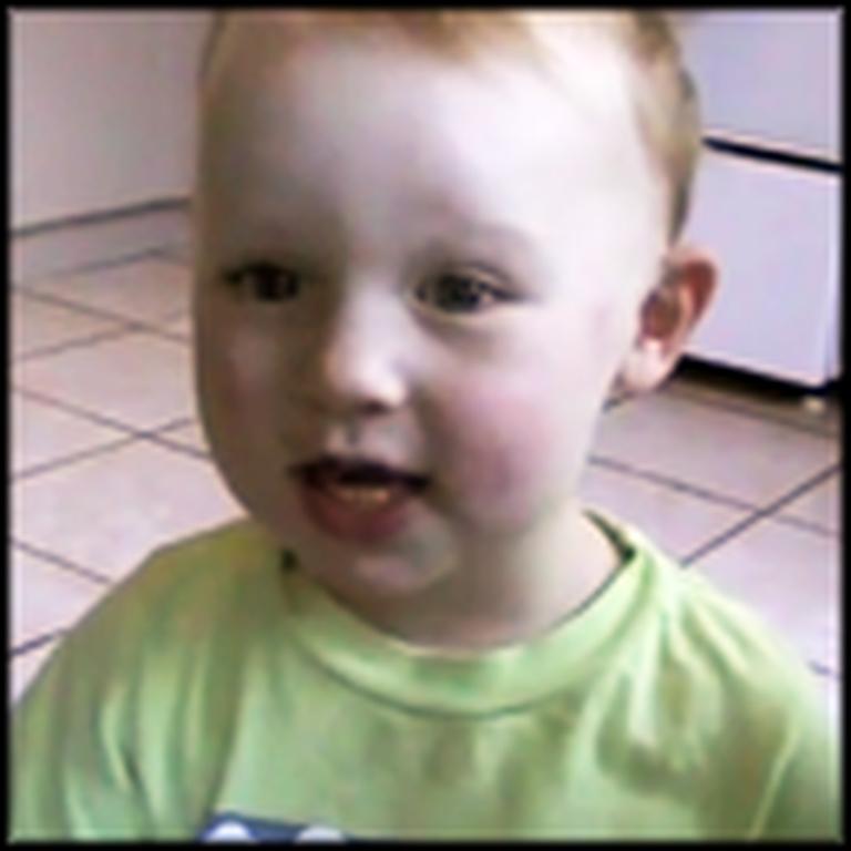 Toddler Sings His Own Version of Hallelujah