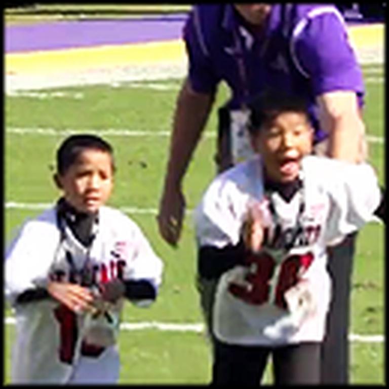 Little Boy Gets an Unforgettable Surprise During Halftime