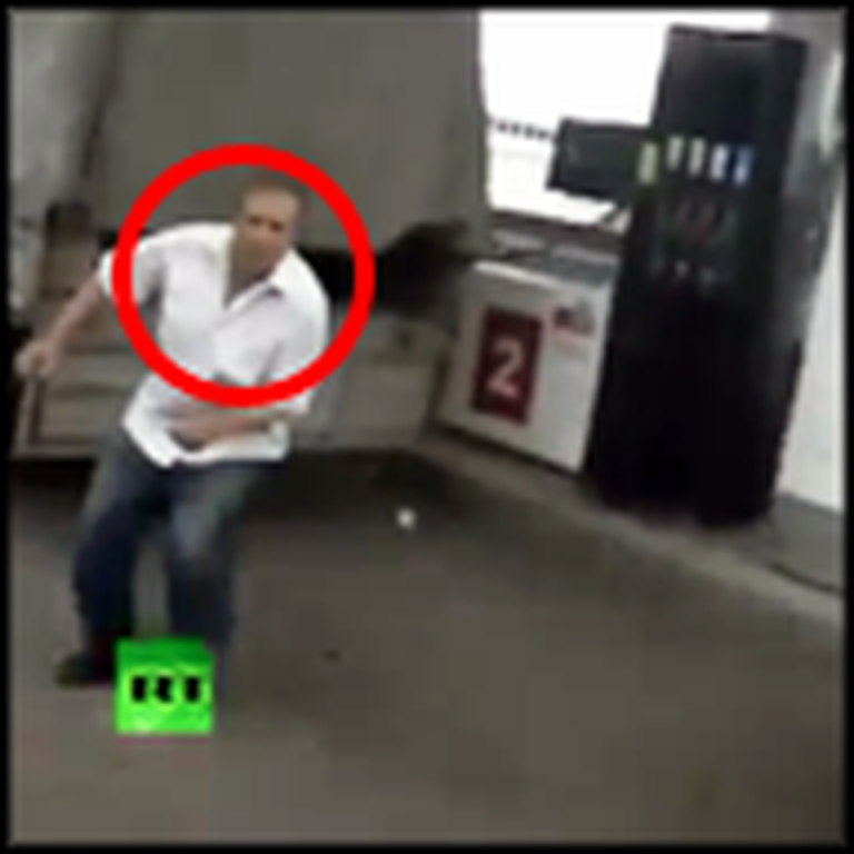 God Protects Man at Gas Station by Escaping Death by Inches