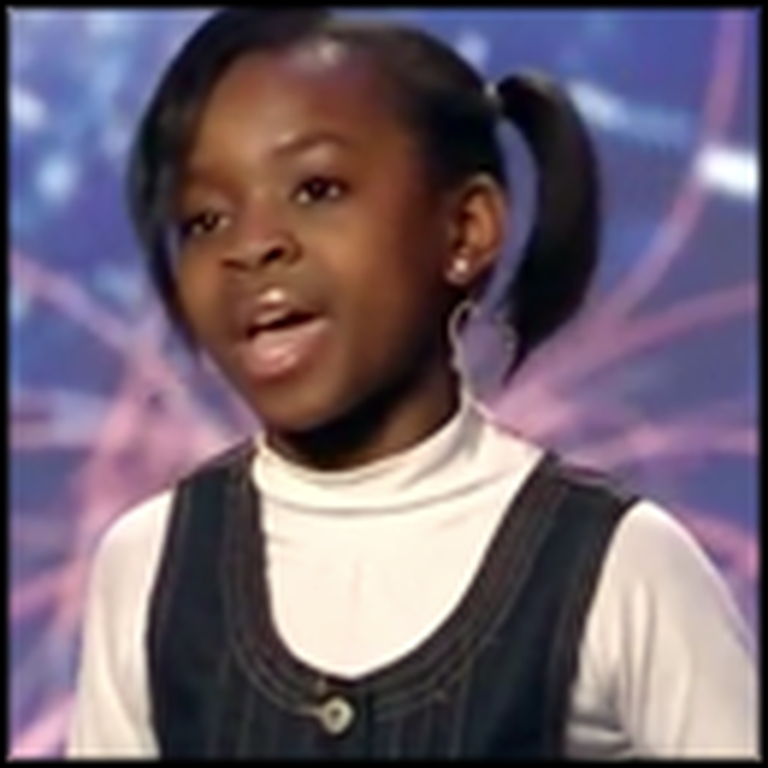Adorable 10 Year-Old Brings the Crowd to Their Feet With Her Singing
