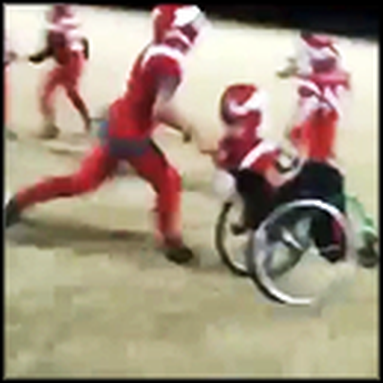 Amazing Footage of a Boy in a Wheelchair Scoring a Touchdown