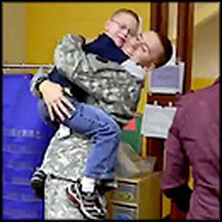 Little Boy Has the BEST Reaction to His Brother's Surprise Homecoming