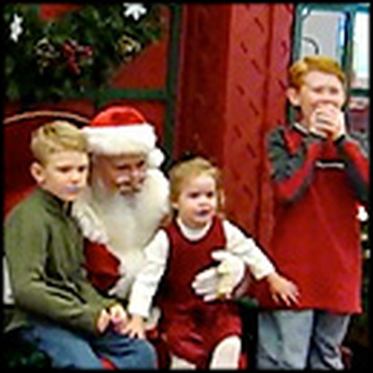 Children Get the Best Surprise While Visiting Santa