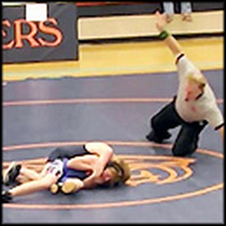 Middle School Wrestler Sefllessly Lets Boy with Cerebral Palsy Win Match