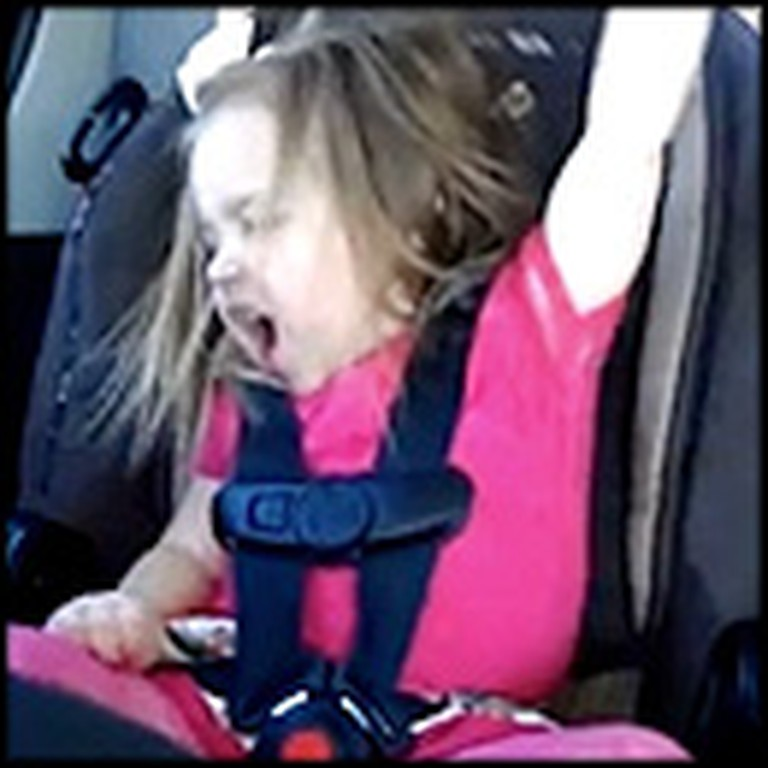 Adorable Little Girl Jams Out to Carrie Underwood in the Car
