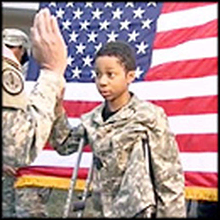 Dying 10 Year-Old Gets His Last Wish Fulfilled - to Be a Soldier
