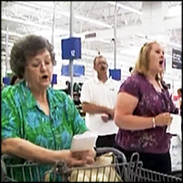 Walmart Customers Sing Amazing Grace After Surviving a Tornado