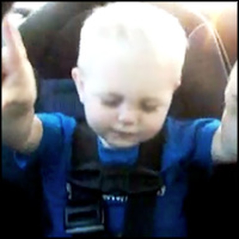 Adorable Little Angel Praises God in the Car