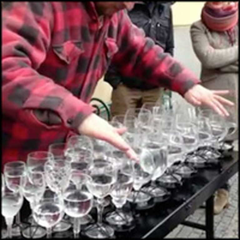 Street Artist Makes Heavenly Music With Crystal Glasses