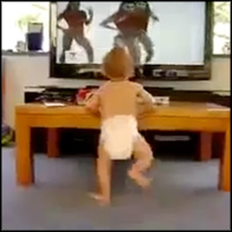 Sweet Baby has an Epic Dance Session