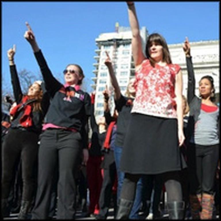Awe Inspiring Flash Mob Dedicated to Ending Violence Against Women