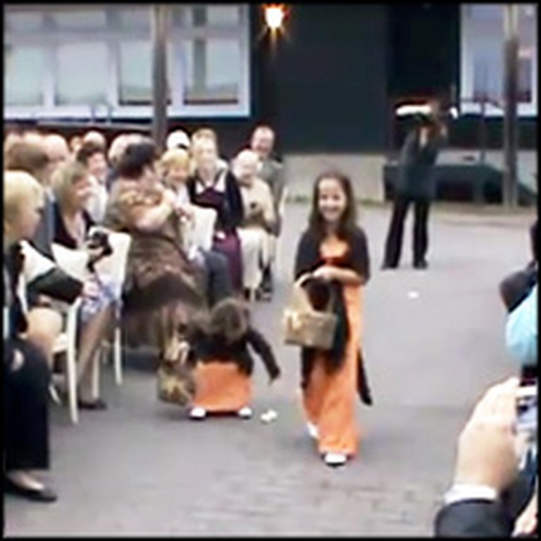 Adorable Flower Girl Does Something Hilarious at a Wedding