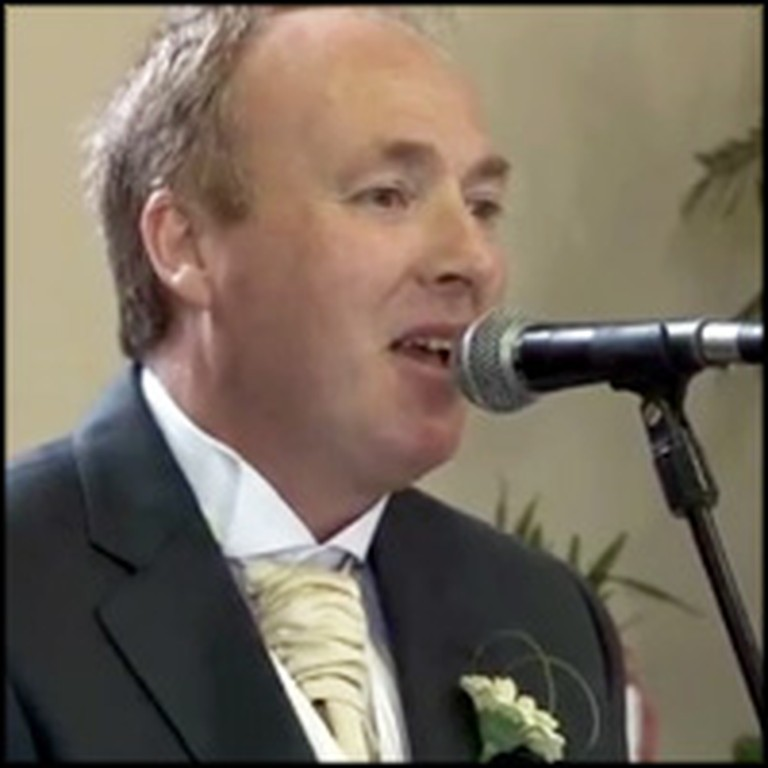 Father Sings a Touching Song to his Daughter at her Wedding