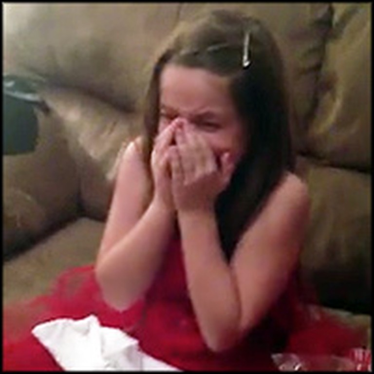 Little Girl is Overjoyed at the News of Becoming a Big Sister