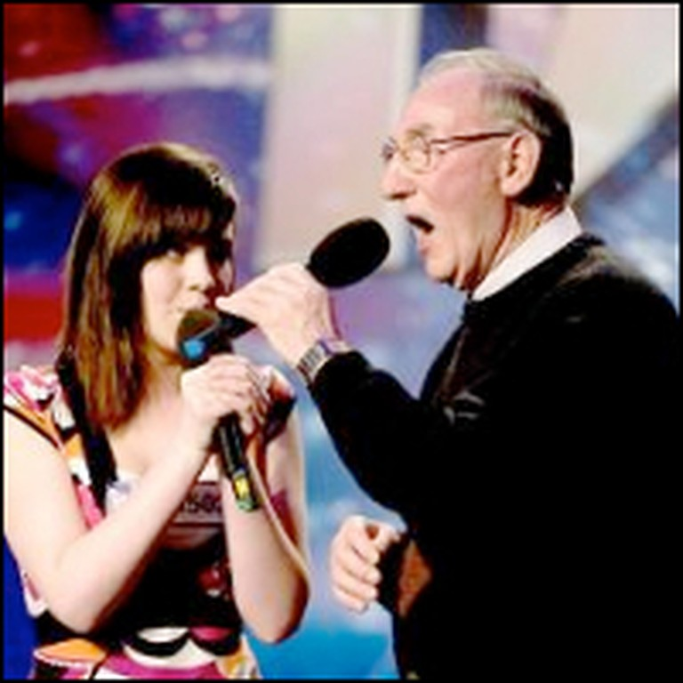 Granddaughter and Grandpa Sing a Sweet Disney Song Together